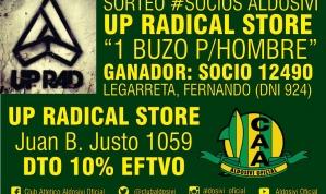 Sorteo Socios Aldosivi Up Radical Store