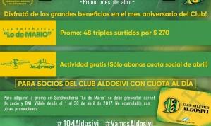 Promocion 104 Aldosivi Aniversario