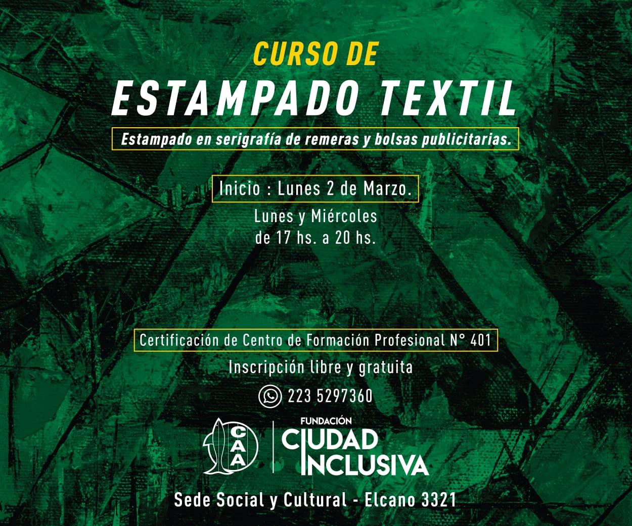 Comienza el curso de estampado textil
