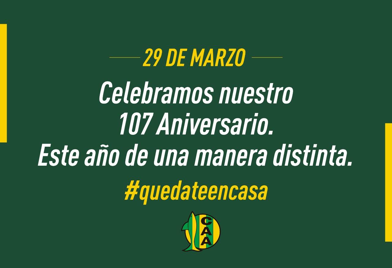 Festejamos nuestro 107 aniversario de una manera diferente