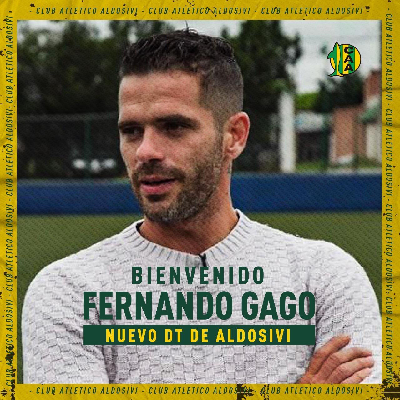 Fernando Gago será el Director Técnico de Aldosivi